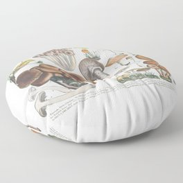 Vintage Mushrooms Floor Pillow