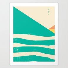 Secret Surf Map 002 — Matthew Korbel-Bowers Art Print