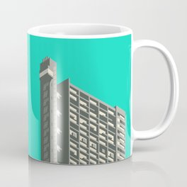 Trellick Tower London Brutalist Architecture - Turquoise Coffee Mug