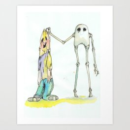 The Skeleton Art Print