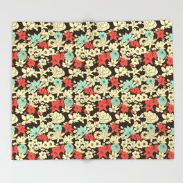Flower Market Throw Blanket