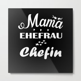 Mama Wife Boss Mothers Day Woman Gift Metal Print