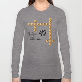 Life Universe and Everything Scrabble 42 Long Sleeve T-shirt