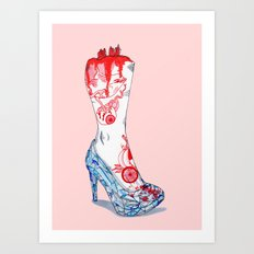 Grimm Cinderella Art Print