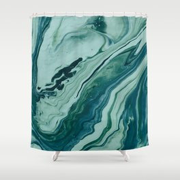 Blue Planet Marble Shower Curtain