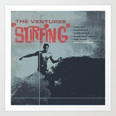 Vintage Surf Art Print
