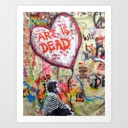 ART IS DEAD Art Print