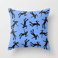 scuba Throw Pillows featuring Scuba Divers by elledeegee