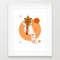sailormoon Framed Art Prints featuring Venus by scoobtoobins