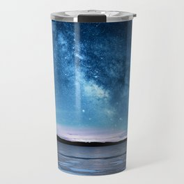 Duck prints on Lime Lake Ice under the Milky Way Travel Mug