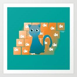 thursday kitty Art Print