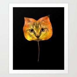 Autumn Cat-7 Art Print