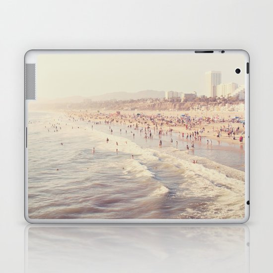 Sunny California. Santa Monica beach photograph Laptop & iPad Skin