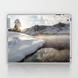 Yellowstone National Park - Bison tracks along the Madison River Laptop & iPad Skin