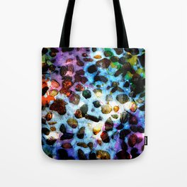 Pebbles In Snow Tote Bag