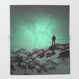 Lost the Moon While Counting Stars II Throw Blanket