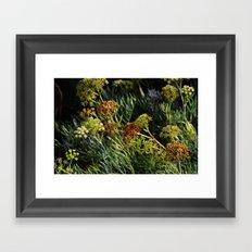 flowering wild plants Framed Art Print