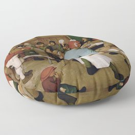 Peasant Wedding by Pieter Bruegel the Elder Floor Pillow