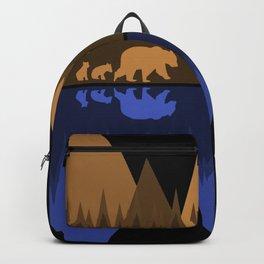 Bear & Cubs Black Backpack