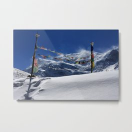 Prayer Flags At The Pass Metal Print