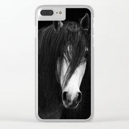 Horse print, Scandinavian, Minimalist, Modern, Wall Art Clear iPhone Case