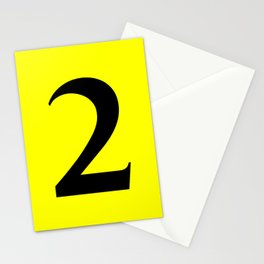 2 (BLACK & YELLOW NUMBERS) Stationery Cards