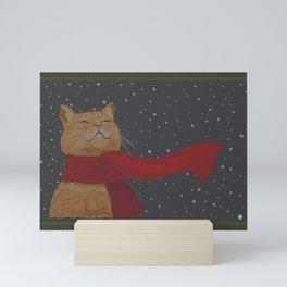 Knitted Wintercat Mini Art Print