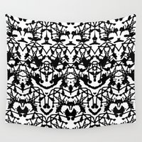 rorschach Wall Tapestries featuring Rorschach madness by Daria Rosen
