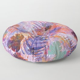 Colourful Palm Electric Garden  #tropical #palm #society6 Floor Pillow