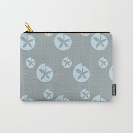 Light Grey Flower Carry-All Pouch