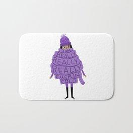 Really Really Really Fuckin Cold (Purple) Bath Mat