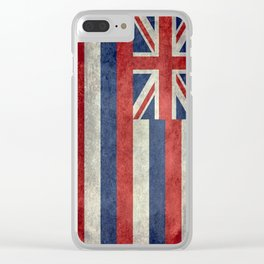 The State flag of Hawaii - Vintage version Clear iPhone Case
