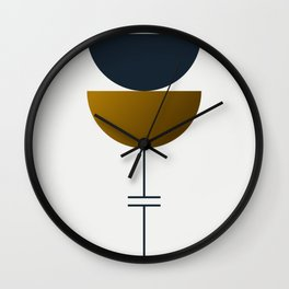 Soir 06 // ABSTRACT GEOMETRY MINIMALIST ILLUSTRATION Wall Clock