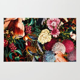 Floral and Animals pattern II Rug