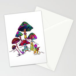 Garden of Magic Mushrooms Stationery Cards