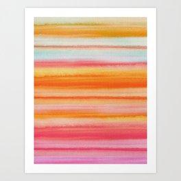 Watercolor Stripes Art Print