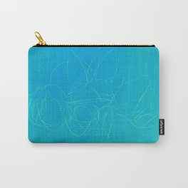metal wire green blue Carry-All Pouch