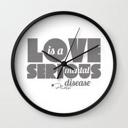 Love - By Plato Wall Clock
