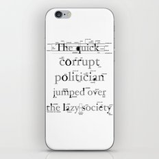 The Quick Corrupt iPhone & iPod Skin