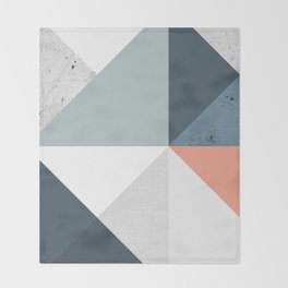 Modern Geometric 12 Throw Blanket