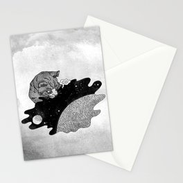 Space and the Cat Stationery Cards