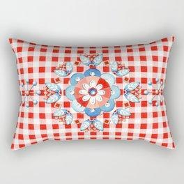 Gingham Folkloric Rectangular Pillow