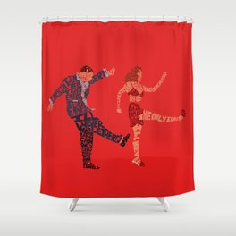 I'll never tell typography Shower Curtain