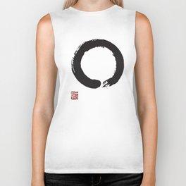 Japanese Enso Circle Japan Calligraphy Buddhism Buddhist Yoga T-Shirts Biker Tank