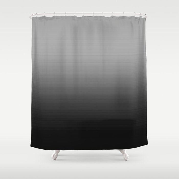 Gray Black Ombre Shower Curtain