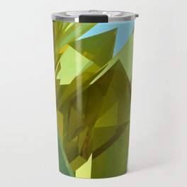 3d Yellow Crystals Travel Mug