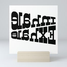 Inhale Exhale, Secret Mirror Message, Soothing Note to Self Mini Art Print