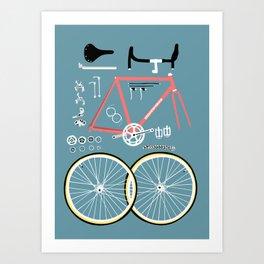 Bike Bits Art Print
