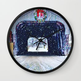 Vermont Covered Bridge Sugabush Wall Clock