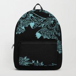 Vintage Lace Hankies Black and Island Paradise Backpack